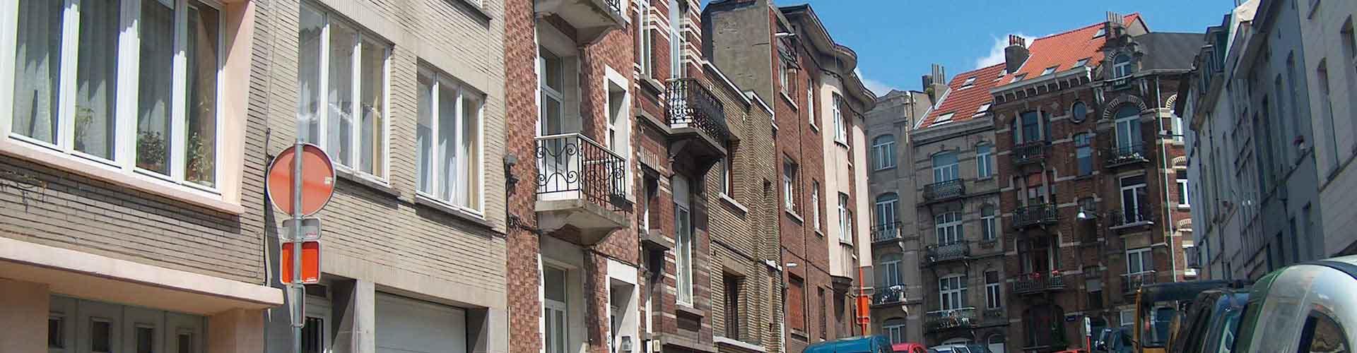 Bruselas - Hostales en el distrito Saint-Josse-ten-Noode. Mapas de Bruselas, Fotos y comentarios de cada Hostal en Bruselas.