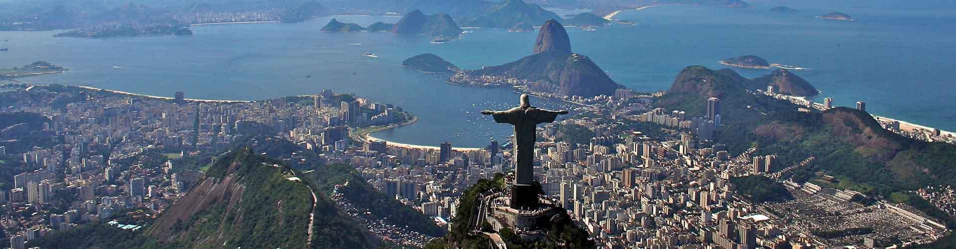 Río de Janeiro - Hostales cerca a Cristo Redentor. Mapas de Río de Janeiro, Fotos y comentarios de cada Hostal en Río de Janeiro.