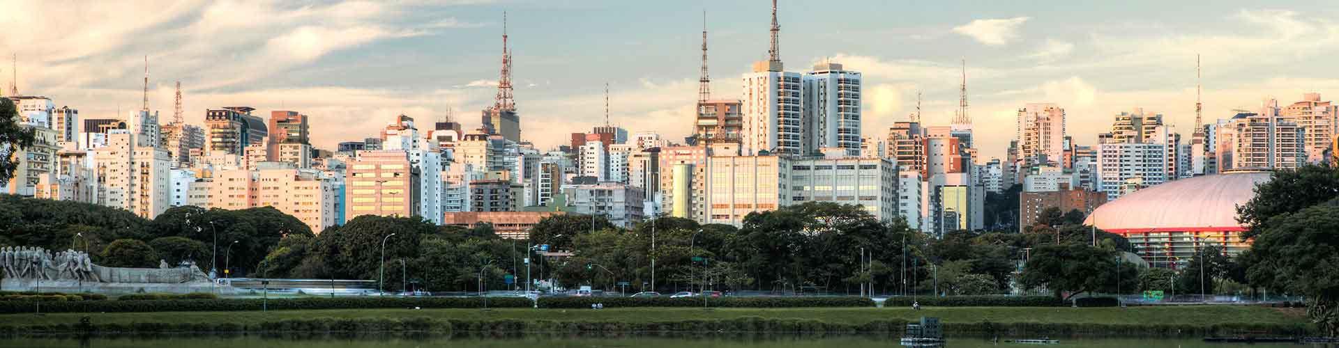 Sao Paulo - Hostales en el distrito Jardim Paulista. Mapas de Sao Paulo, Fotos y comentarios de cada Hostal en Sao Paulo.
