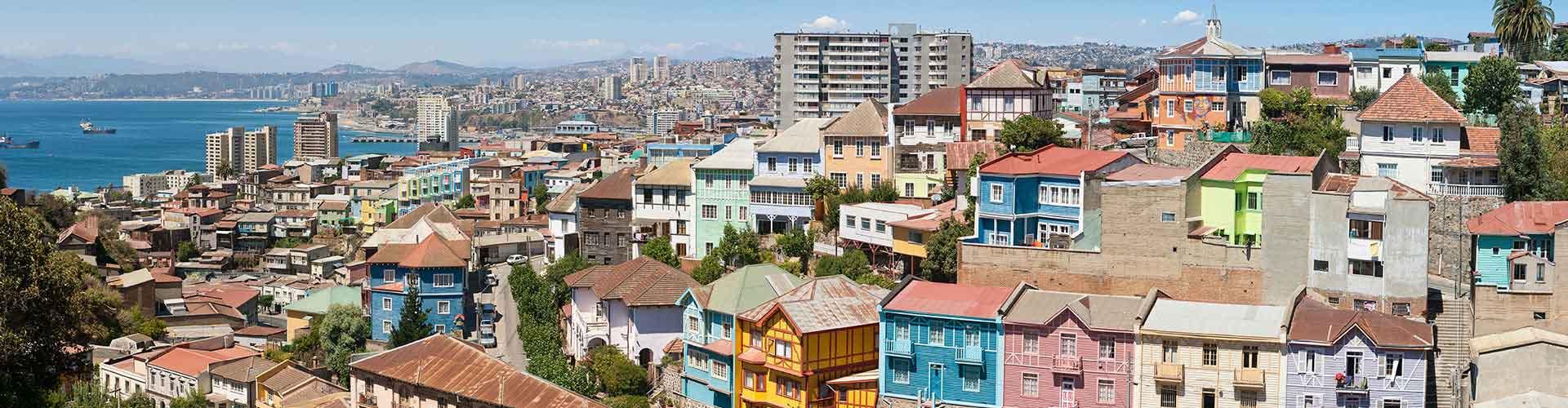 Valparaíso - Hostales en Valparaíso. Mapas de Valparaíso, Fotos y Comentarios para cada hostal en Valparaíso.