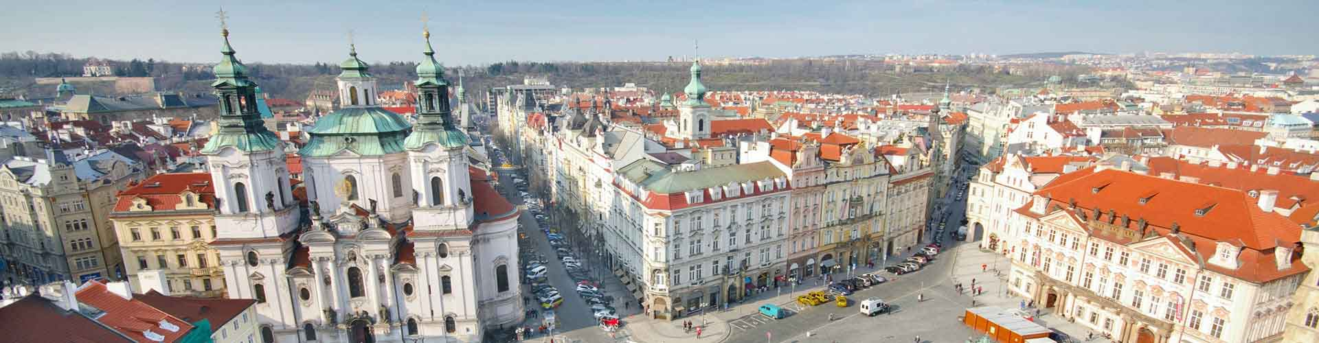 Praga - Hostales cerca a Plaza del Casco Antiguo. Mapas de Praga, Fotos y comentarios de cada Hostal en Praga.