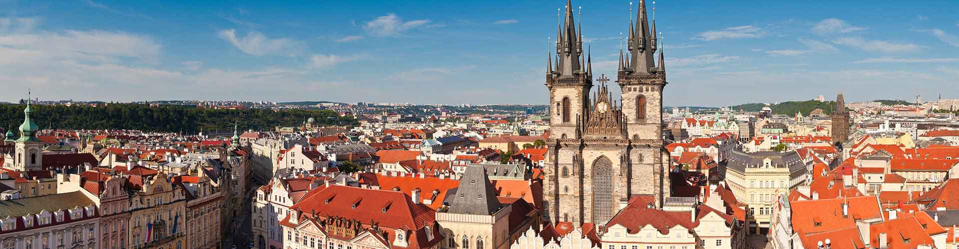 Praga - Hostales cerca a Iglesia de Tyn. Mapas de Praga, Fotos y comentarios de cada Hostal en Praga.