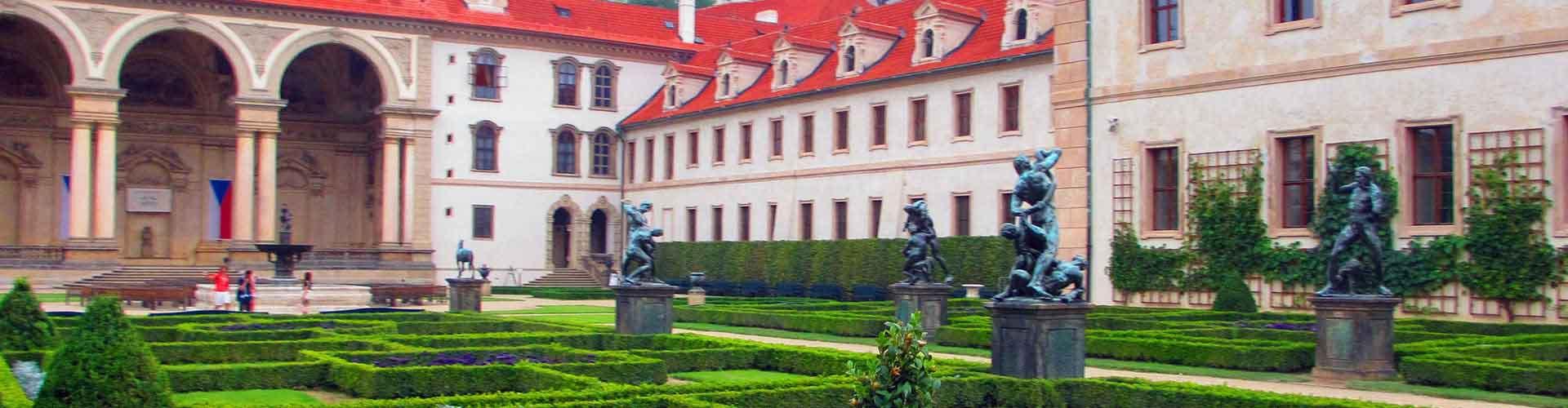 Praga - Hostales cerca a Palacio Wallenstein. Mapas de Praga, Fotos y comentarios de cada Hostal en Praga.