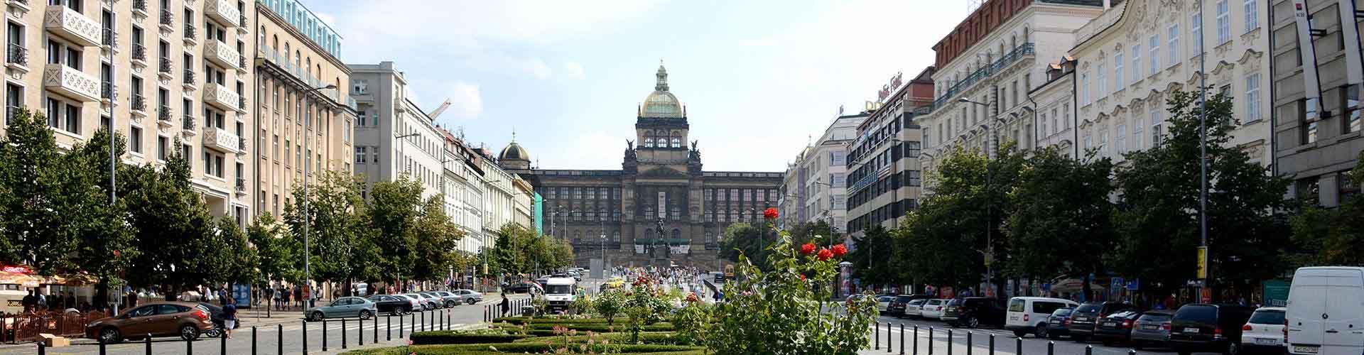 Praga - Hostales cerca a Plaza de Wenceslao. Mapas de Praga, Fotos y comentarios de cada Hostal en Praga.