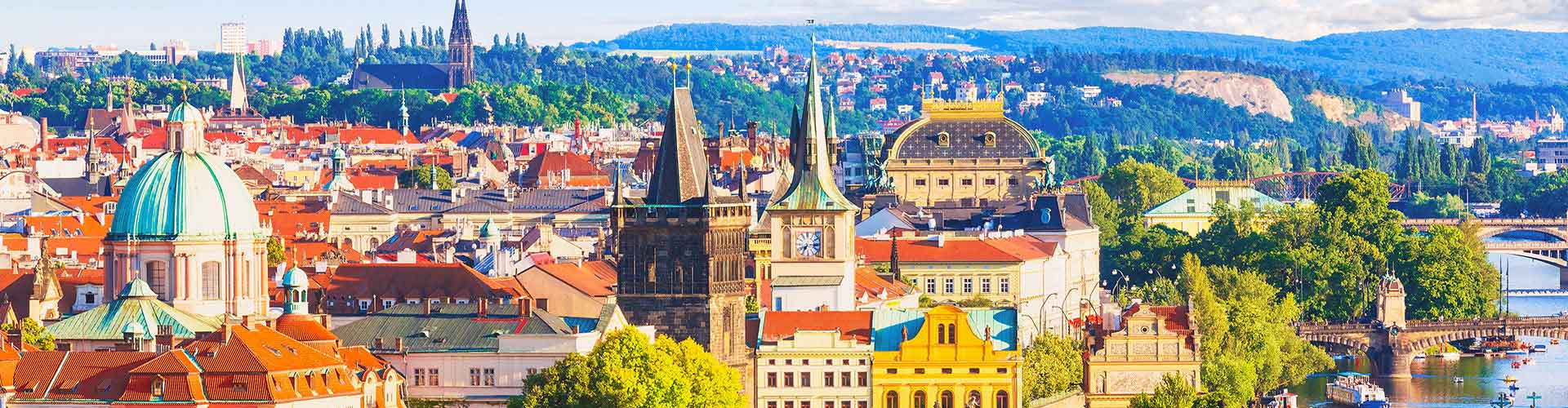 Praga - Campamentos en el distrito Vysocany. Mapas de Praga, Fotos y comentarios de cada Campamento en Praga.