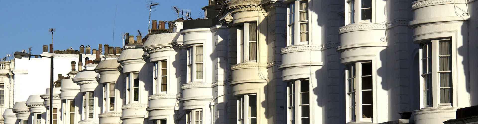 Londres - Hostales en el distrito Bayswater. Mapas de Londres, Fotos y comentarios de cada hostal en Londres.