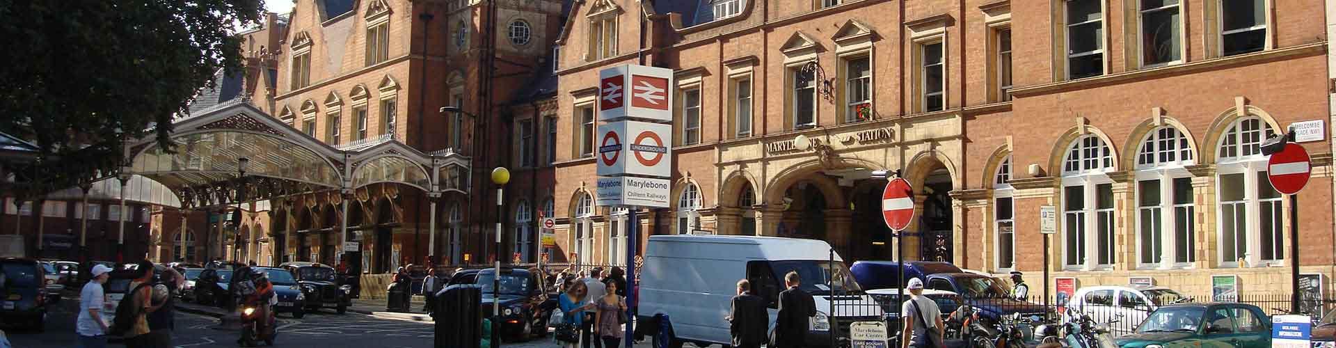 Londres - Hostales en el distrito Marylebone. Mapas de Londres, Fotos y comentarios de cada Hostal en Londres.