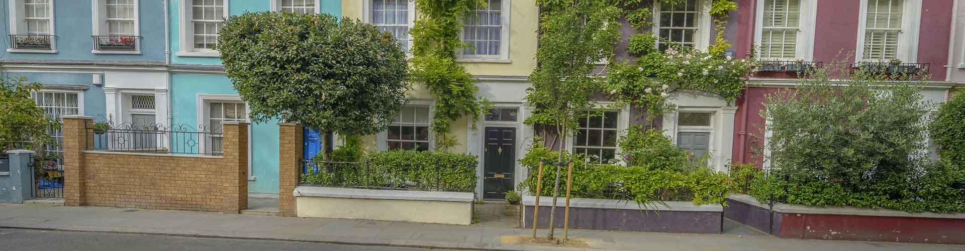 Londres - Hostales en el distrito Notting Hill. Mapas de Londres, Fotos y comentarios de cada Hostal en Londres.