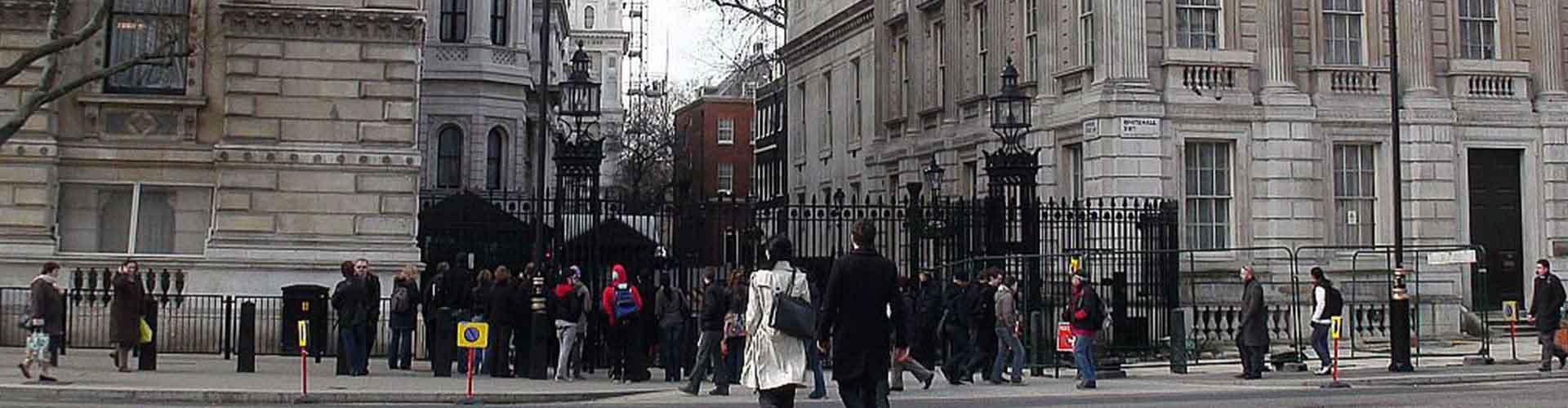 Londres - Habitaciones cerca a 10 de Downing Street. Mapas de Londres, Fotos y comentarios de cada Habitación en Londres.