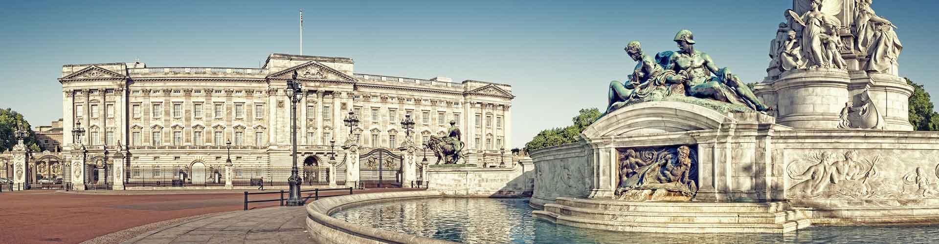 Londres - Hostales cerca a El Palacio de Buckingham. Mapas de Londres, Fotos y comentarios de cada Hostal en Londres.