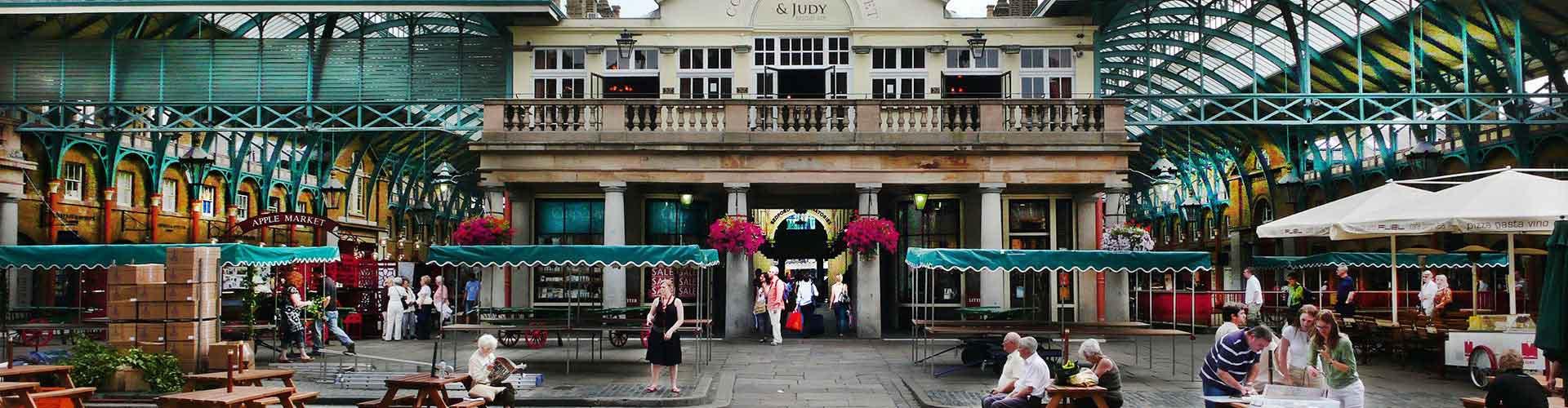 Londres - Campamentos cerca a Covent Garden Piazza. Mapas de Londres, Fotos y comentarios de cada Campamento en Londres.