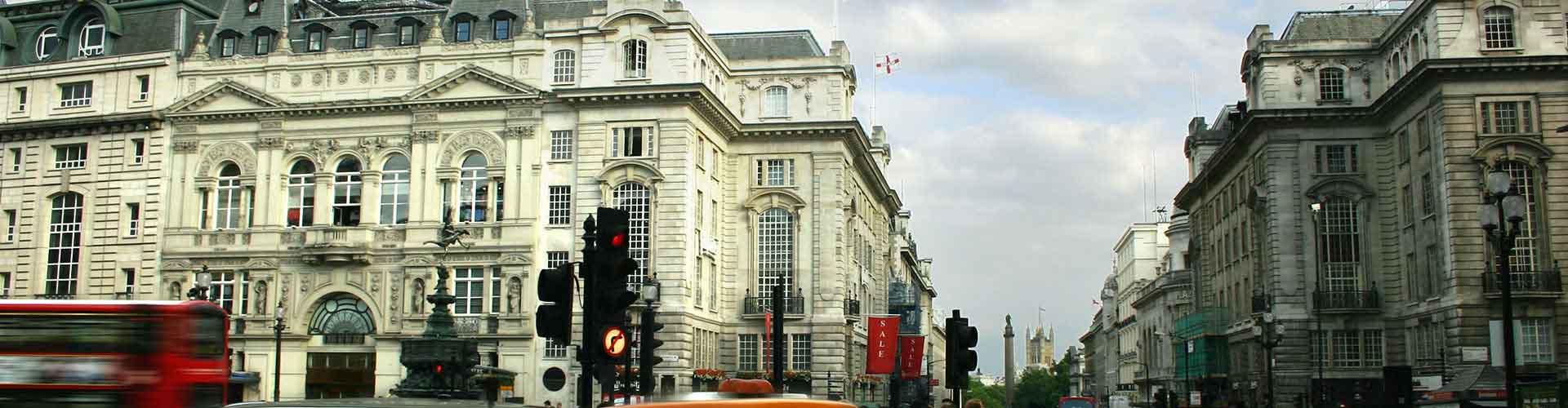 Londres - Hostales cerca a Piccadilly Circus. Mapas de Londres, Fotos y comentarios de cada Hostal en Londres.