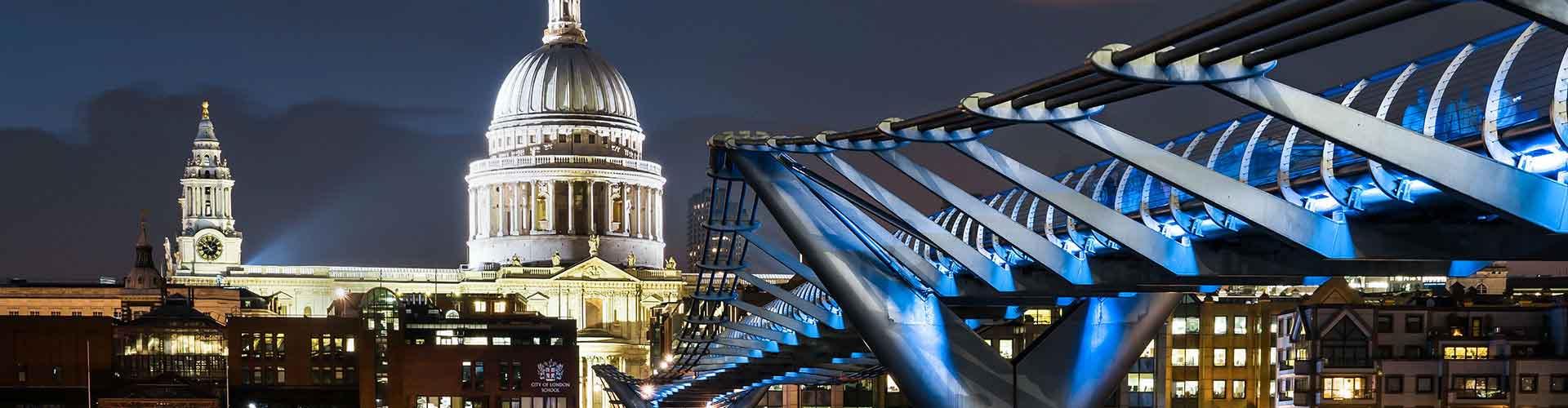 Londres - Hostales cerca a St Paul's Cathedral. Mapas de Londres, Fotos y Comentarios para cada hostal en Londres.