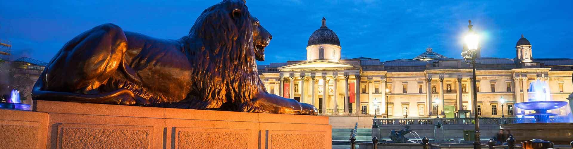 Londres - Campamentos cerca a Trafalgar Square. Mapas de Londres, Fotos y comentarios de cada Campamento en Londres.