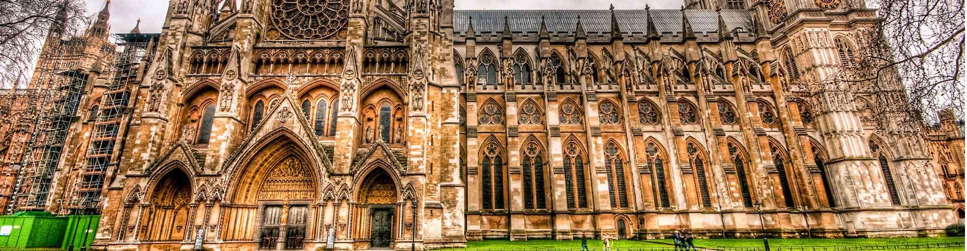 Londres - Hostales cerca a La Abadía de Westminster. Mapas de Londres, Fotos y comentarios de cada Hostal en Londres.