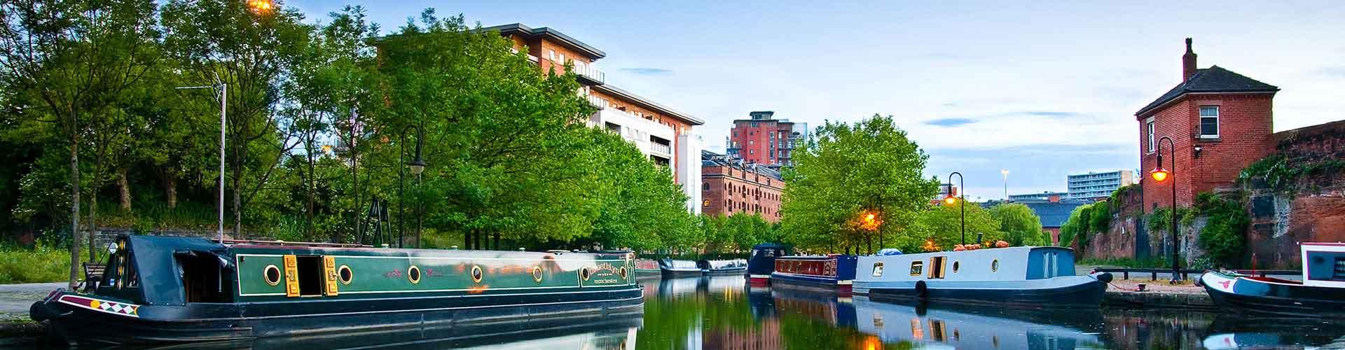 Manchester - Hostales en el distrito Deansgate. Mapas de Manchester, Fotos y comentarios de cada Hostal en Manchester.