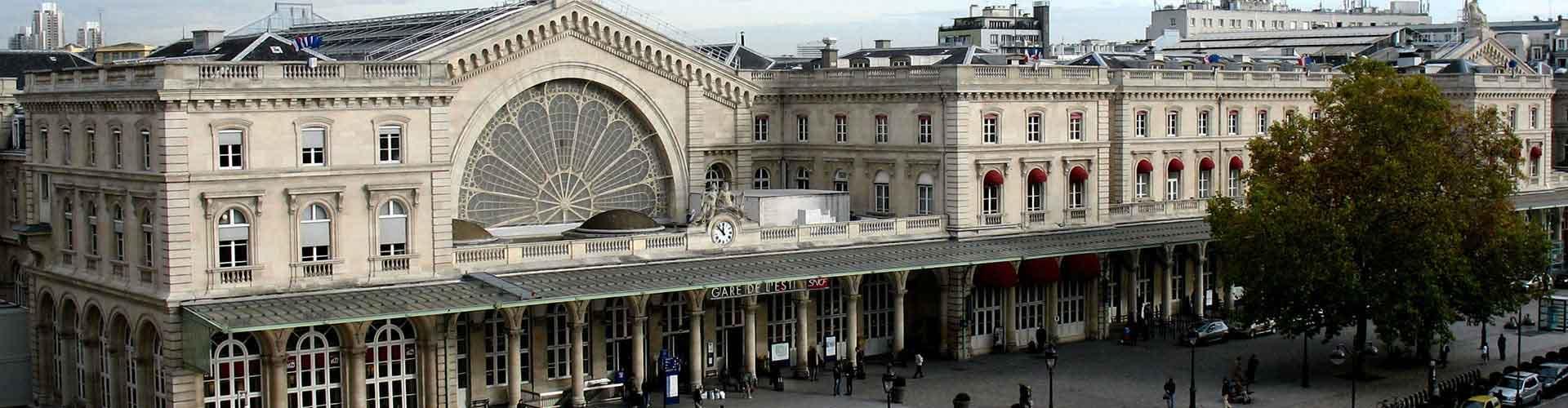 París - Hostales en el distrito Gare de l'Est. Mapas de París, Fotos y comentarios de cada Hostal en París.