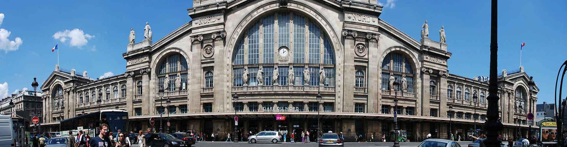París - Hostales en el distrito Estación del Norte. Mapas de París, Fotos y comentarios de cada Hostal en París.