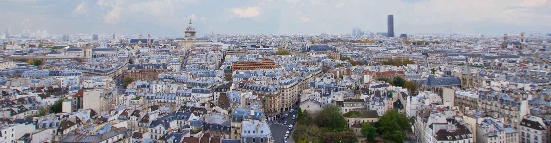 París - Hoteles baratos en el distrito Barrio Latino. Mapas de París, Fotos y comentarios de cada Hotel barato en París.