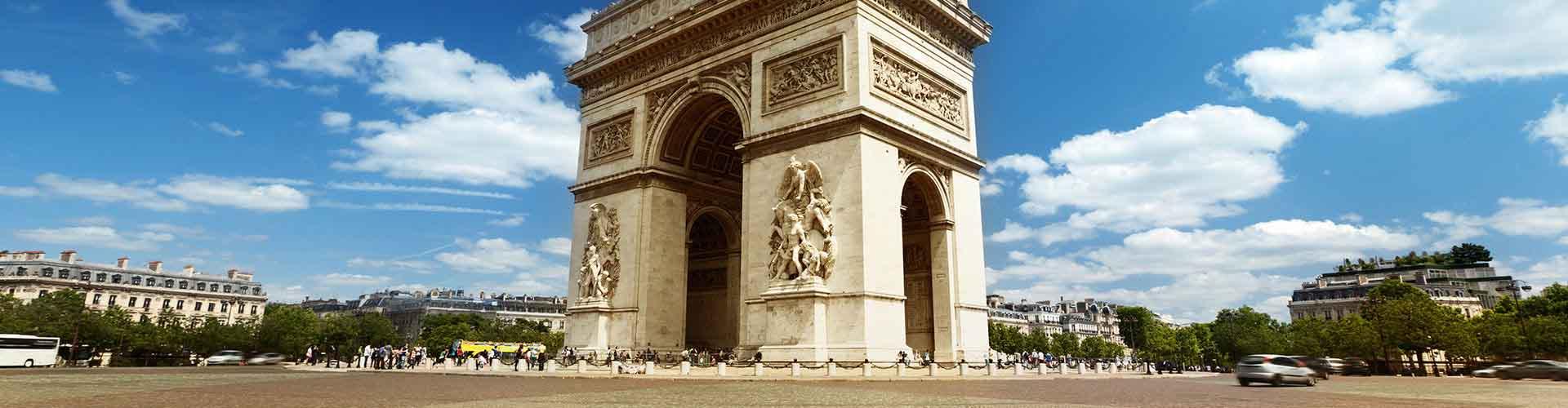 París - Hostales cerca a Arco del Triunfo. Mapas de París, Fotos y comentarios de cada Hostal en París.