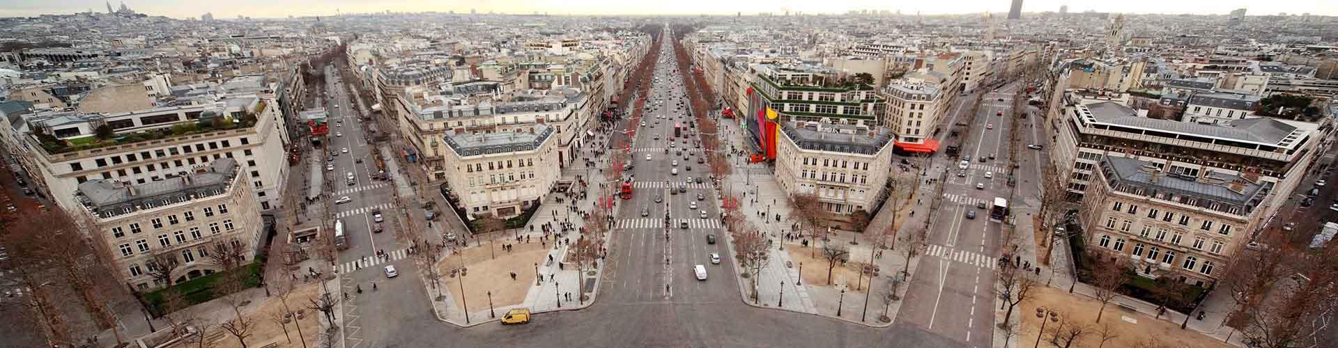 París - Hoteles baratos cerca a Boulevard Haussmann. Mapas de París, Fotos y comentarios de cada Hotel en París.