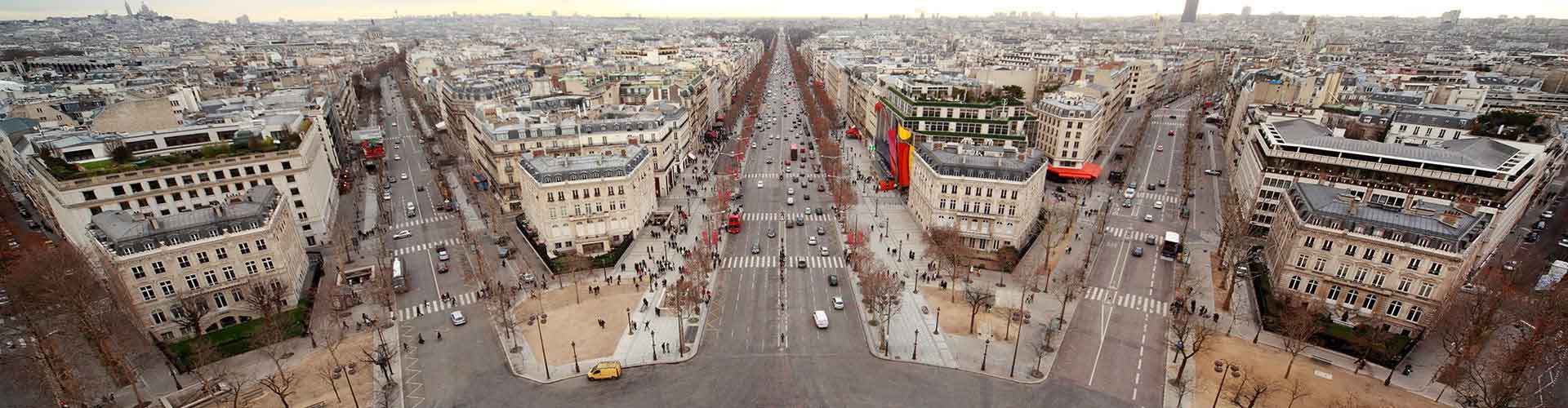 París - Hostales cerca a Boulevard Haussmann. Mapas de París, Fotos y comentarios de cada Hostal en París.