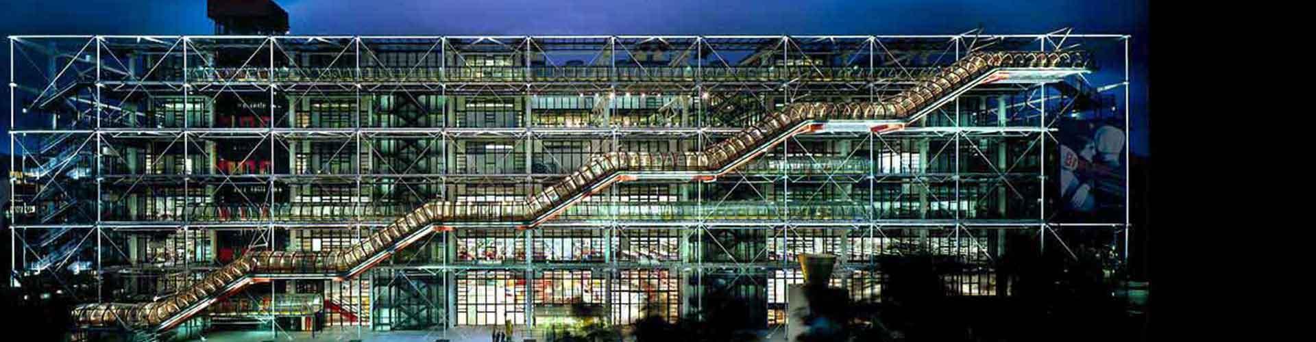 París - Hostales cerca a Centro Pompidou. Mapas de París, Fotos y comentarios de cada Hostal en París.