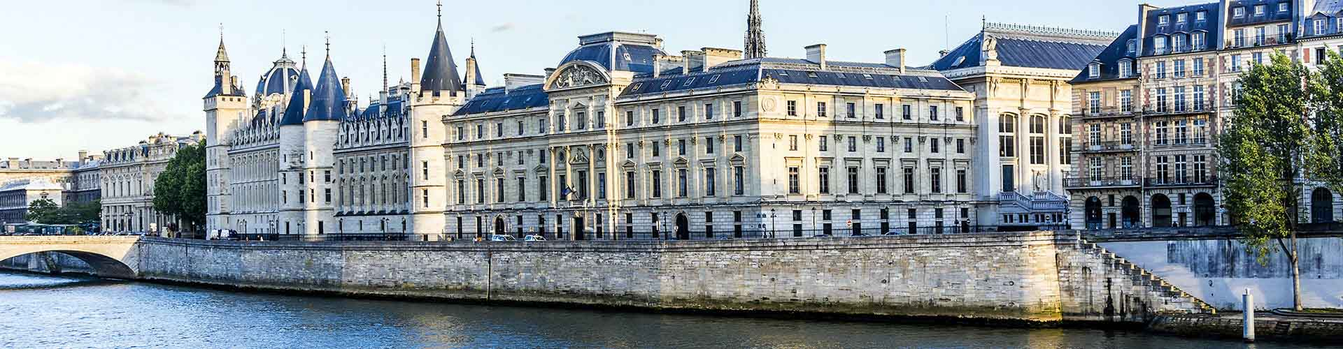 París - Hostales cerca a Conciergerie. Mapas de París, Fotos y comentarios de cada Hostal en París.