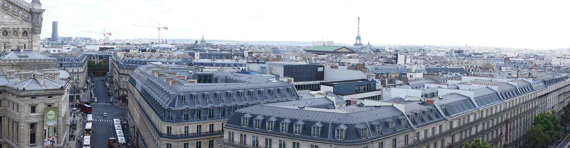 París - Hoteles baratos cerca a Galeries Lafayette. Mapas de París, Fotos y comentarios de cada Hotel en París.