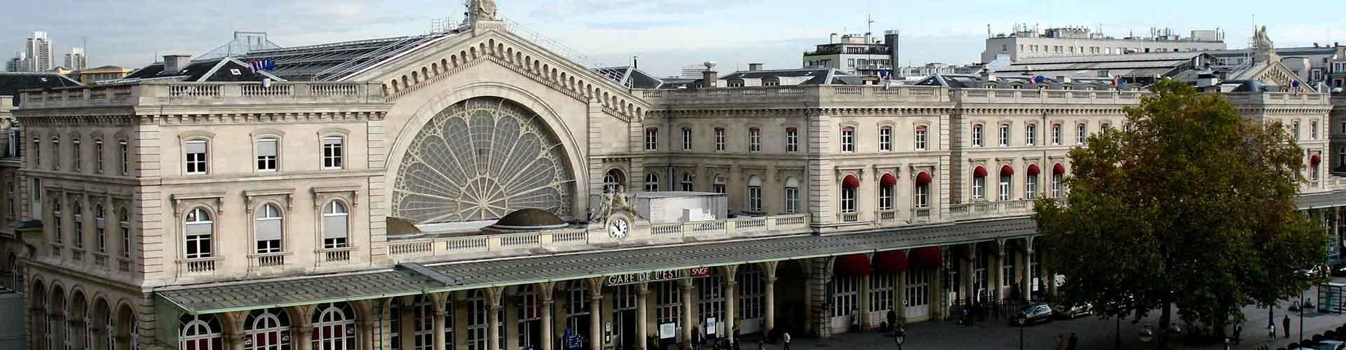 París - Hostales cerca a Gare de l'Est railway station. Mapas de París, Fotos y Comentarios para cada hostal en París.