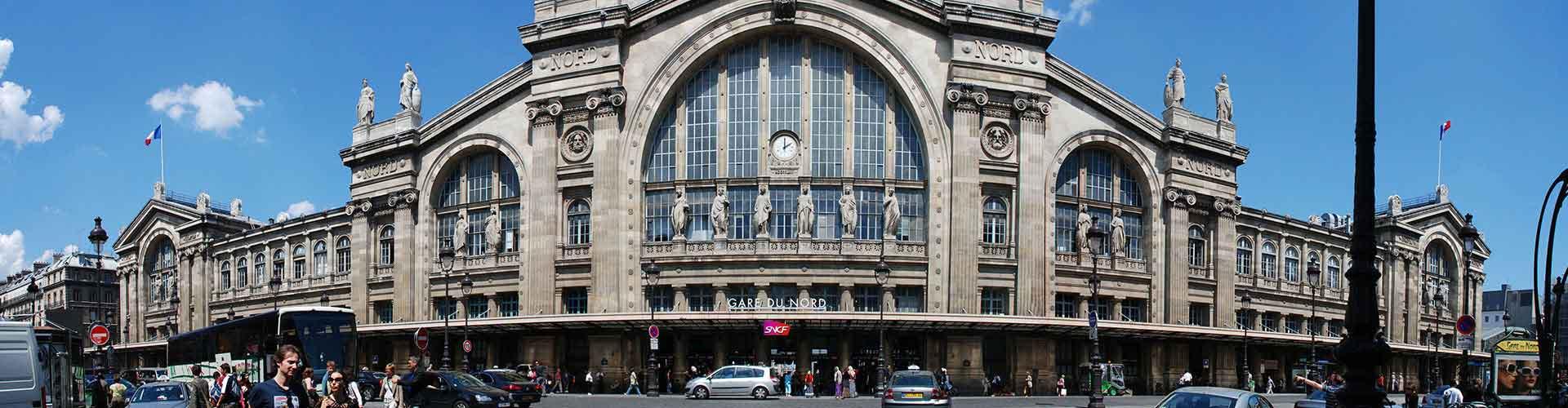 París - Hostales cerca a Estación de tren del Norte. Mapas de París, Fotos y comentarios de cada Hostal en París.