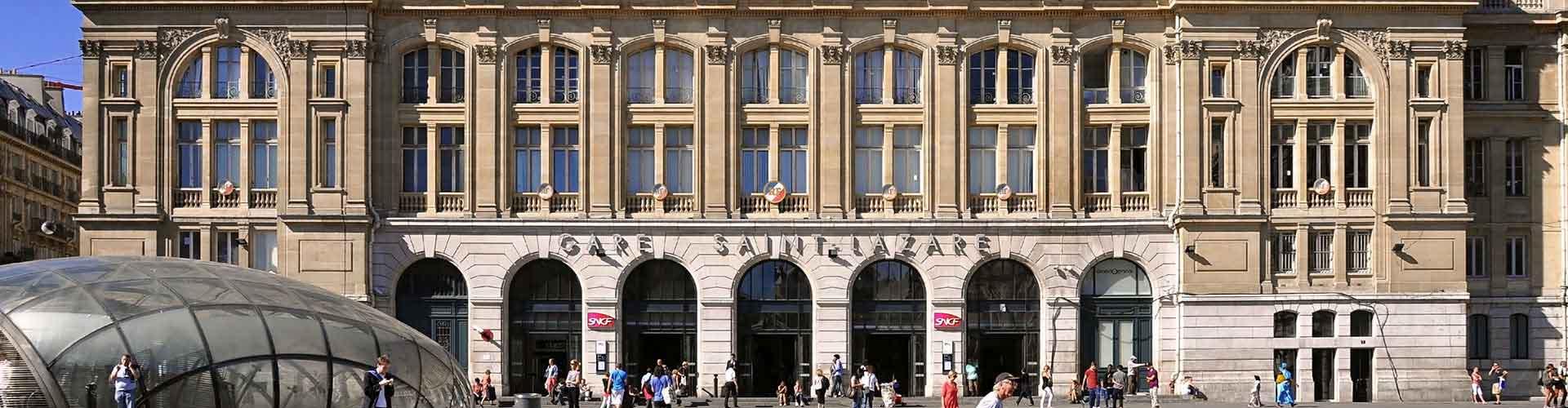 París - Hostales cerca a Estación de tren de Saint-Lazare. Mapas de París, Fotos y comentarios de cada Hostal en París.