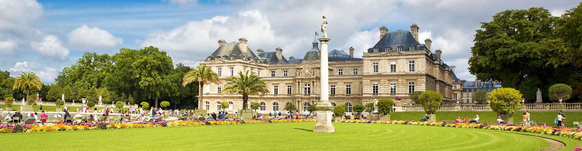 París - Hostales cerca a Jardin de Luxembourg. Mapas de París, Fotos y comentarios de cada Hostal en París.