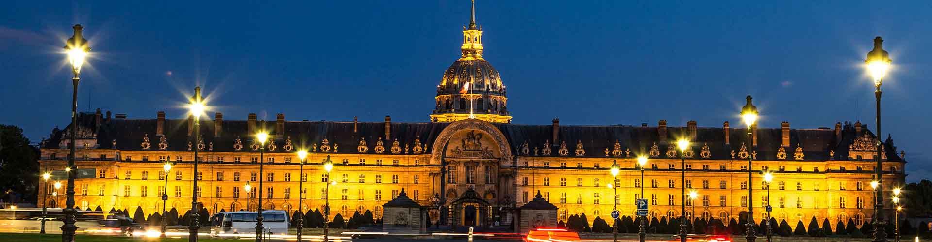 París - Hostales cerca a Les Invalides. Mapas de París, Fotos y comentarios de cada Hostal en París.