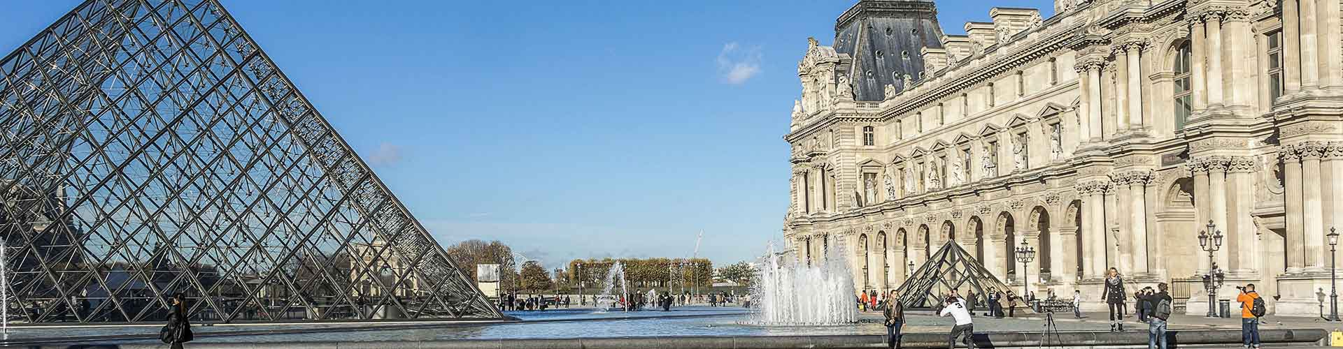 París - Hoteles baratos cerca a Louvre. Mapas de París, Fotos y comentarios de cada Hotel en París.