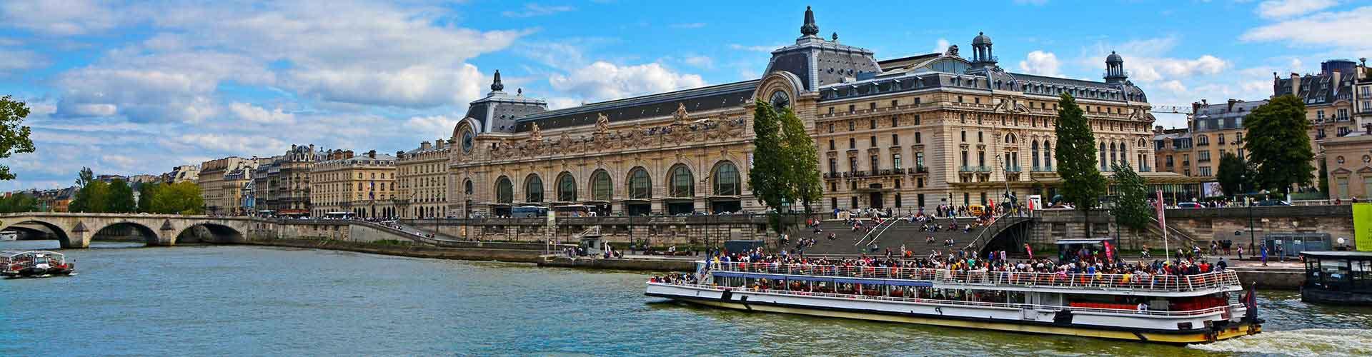 París - Hoteles baratos cerca a Musee d'Orsay. Mapas de París, Fotos y comentarios de cada Hotel en París.