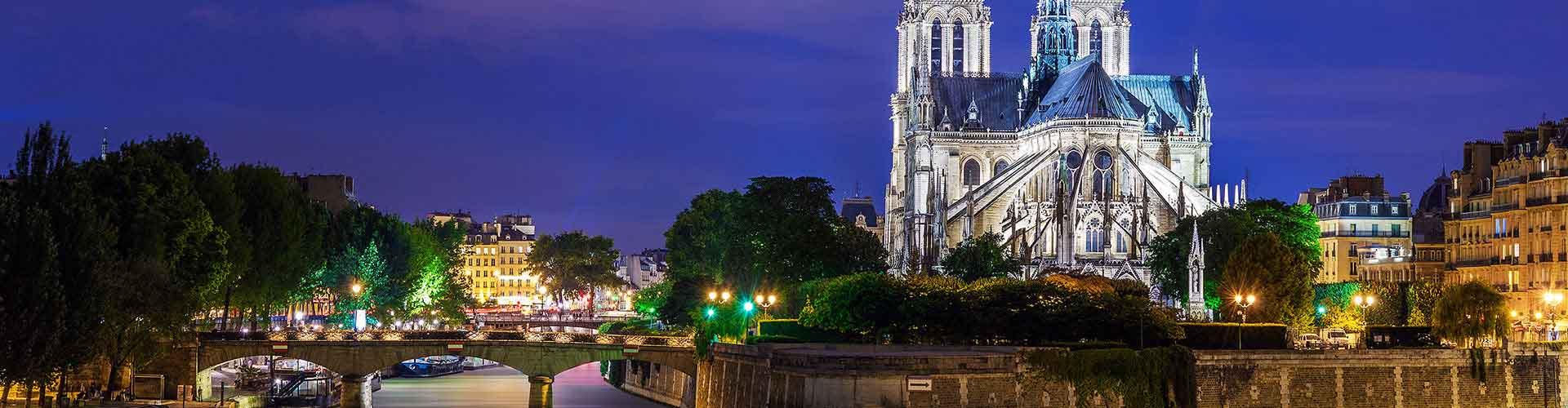 París - Hostales cerca a Notre Dame de París. Mapas de París, Fotos y comentarios de cada Hostal en París.