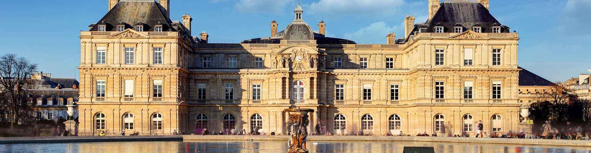 París - Hoteles baratos cerca a Palacio de Luxemburgo. Mapas de París, Fotos y comentarios de cada Hotel en París.
