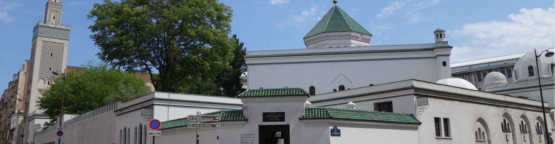 París - Hostales cerca a Mezquita de París. Mapas de París, Fotos y comentarios de cada Hostal en París.