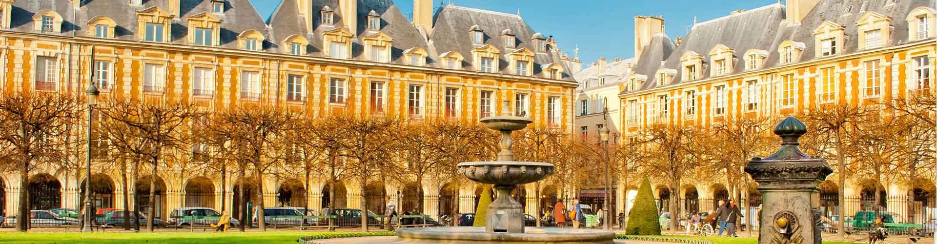 París - Hostales cerca a Place Vendôme. Mapas de París, Fotos y comentarios de cada Hostal en París.