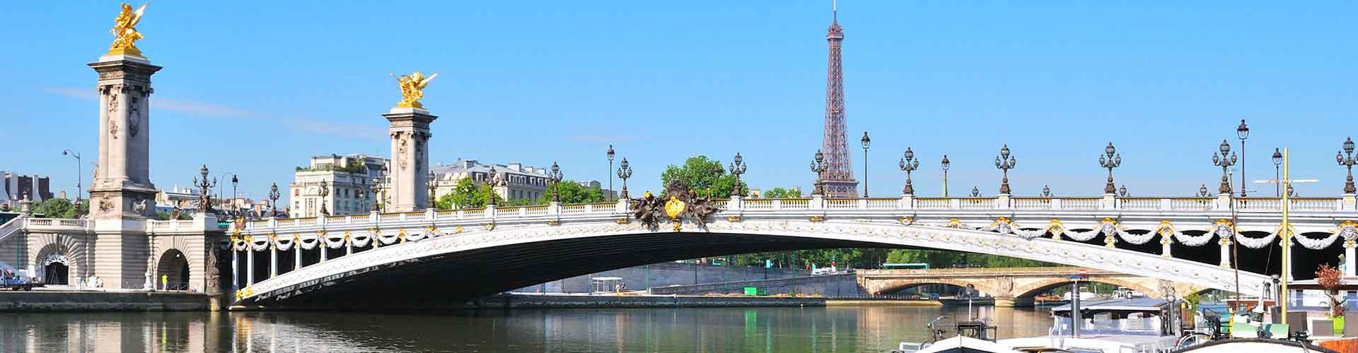 París - Hoteles baratos cerca a Pont Alexandre III. Mapas de París, Fotos y comentarios de cada Hotel en París.