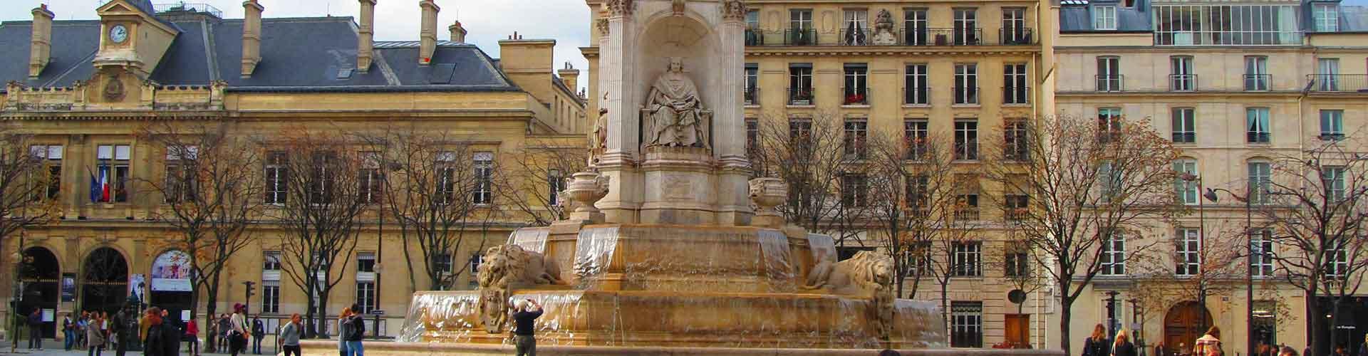 París - Hostales cerca a Saint-Sulpice. Mapas de París, Fotos y comentarios de cada Hostal en París.