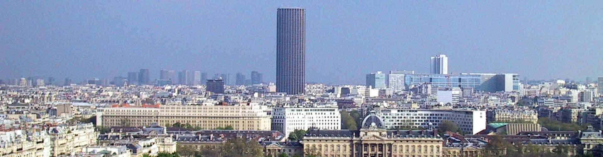 París - Hostales cerca a Tour Montparnasse. Mapas de París, Fotos y comentarios de cada Hostal en París.