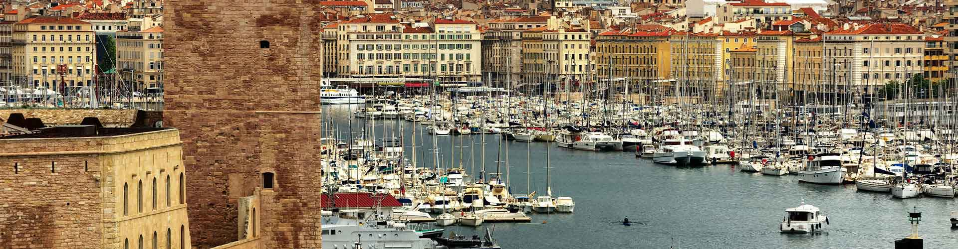 Marsella - Hostales en el distrito Saint-Victor. Mapas de Marsella, Fotos y comentarios de cada hostal en Marsella.