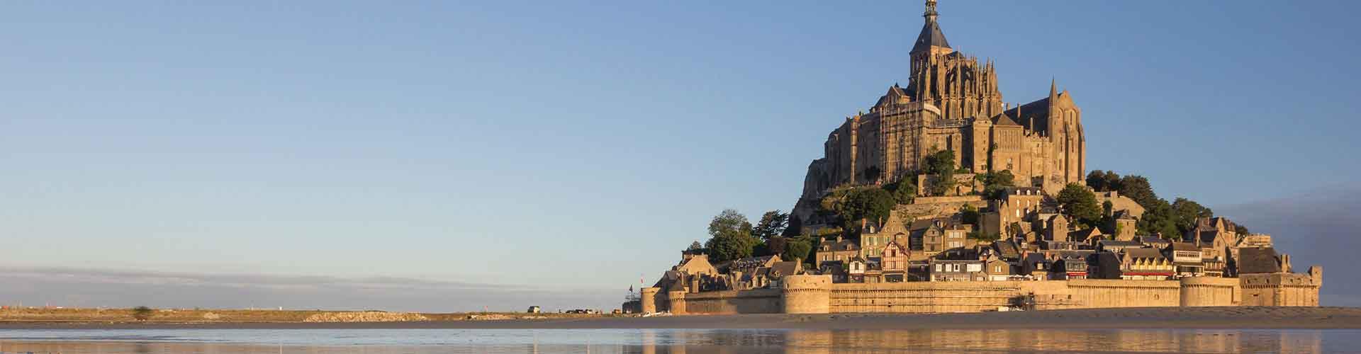 Mont St. Michel - Hostales en Mont St. Michel. Mapas de Mont St. Michel, Fotos y comentarios de cada Hostal en Mont St. Michel.
