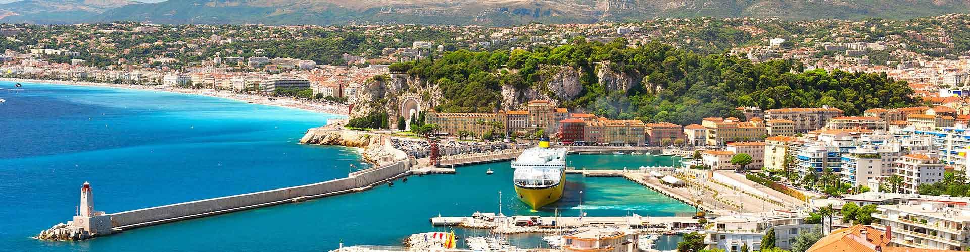 Niza - Hostales en el distrito Masséna. Mapas de Niza, Fotos y comentarios de cada Hostal en Niza.