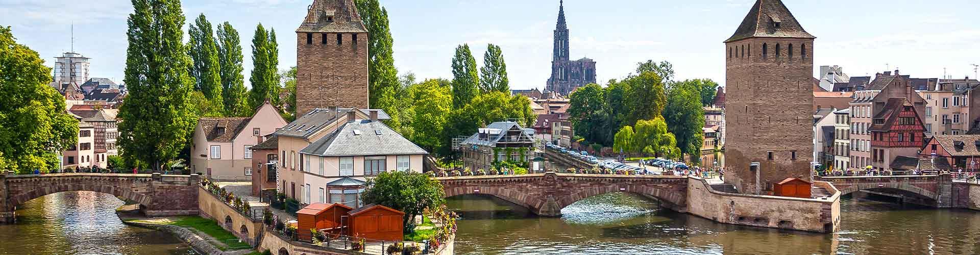 Estrasburgo - Hostales en el distrito Vauban. Mapas de Estrasburgo, Fotos y comentarios de cada Hostal en Estrasburgo.