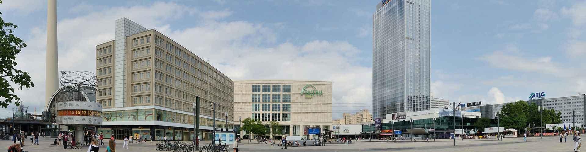 Berlín - Campamentos cerca a Alexanderplatz. Mapas de Berlín, Fotos y comentarios de cada Campamento en Berlín.