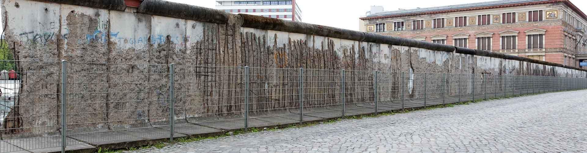 Berlín - Hostales cerca a Muro de Berlín. Mapas de Berlín, Fotos y comentarios de cada Hostal en Berlín.