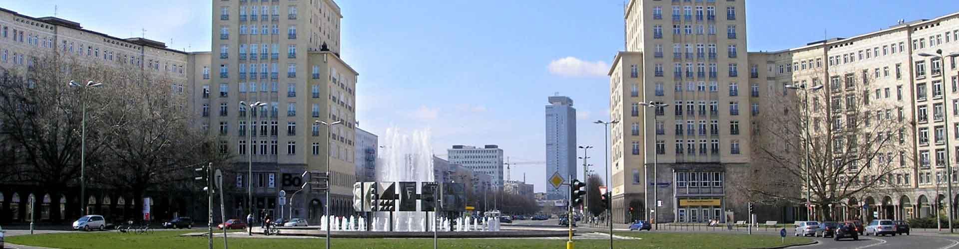 Berlín - Hoteles baratos cerca a Karl-Marx-Allee. Mapas de Berlín, Fotos y comentarios de cada Hotel en Berlín.